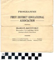 Image of First District Educational Association Program