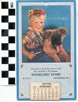 Image of Woodland Store 1957 Calendar