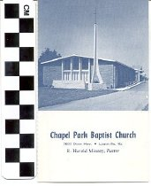 Image of Chapel Park Baptist Church visitor's card