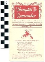 Image of Thoughts to Remember newsletter Evergreen Cemetery