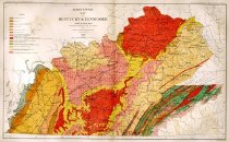 Image of Agricultural Map of Kentucky & Tennessee - Julius Bien & Co.