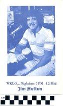 Image of WKLO Jim Holton handbill