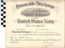 Image of Honorable Discharge certificate