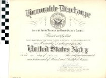 Image of Honorable Discharge certificate, 1955