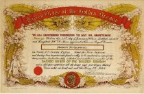 Image of Sacred Order of the Golden Dragon certificate