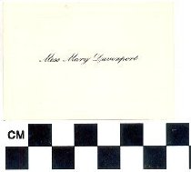 Image of Calling card of Miss Mary Davenport