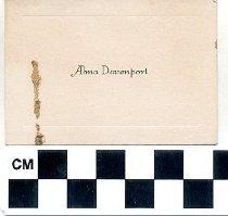 Image of Alma Davenport calling card