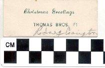 Image of Christmas greeting card Thomas Bros.