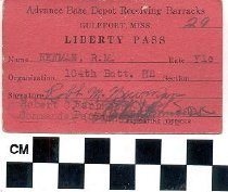 Image of Advance Base Depot Receiving Barracks Liberty Pass