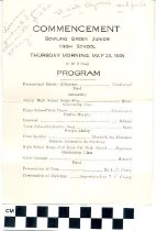 Image of Commencement Program Bowling Green Junior High School