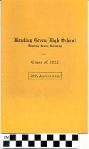 Image of Bowling Green High School 50th Anniversary program
