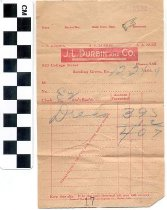 Image of J. L. Durbin and Co. receipt