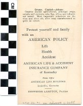 Image of Greece Trade Card American Life & Accident Insurance Company