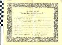 Image of Certificate of Guarantee