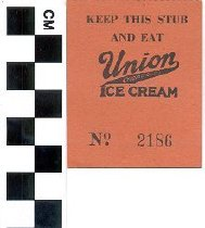 Image of Union Ice Cream ticket stub