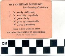 Image of Five Christian Disciplines for Growing Christians card
