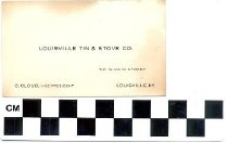 Image of Louisville Tin & Stove Co. business card