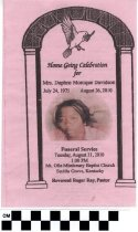 Image of Funeral program