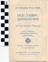 Image of Old Maids' Convention program