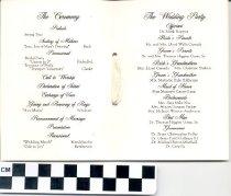 Image of Wedding program
