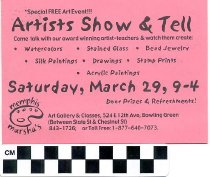 Image of Artists Show & Tell invitation