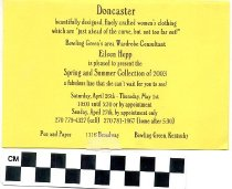Image of Pen and Paper, Inc. Doncaster Spring and Summer Collection of 2003 invitation -