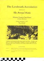Image of The Landmark Association annual picnic invitation