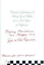 Image of Christmas greeting card