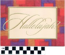Image of Hallelujah christmas card