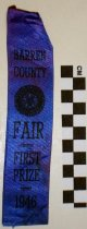 Image of 2010.92.106 - Barren County Fair First Prize Ribbon