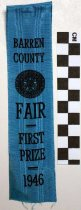 Image of 2010.92.108 - Barren County Fair First Prize Ribbon
