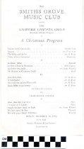 Image of Smiths Grove Music Club christmas program, 1953