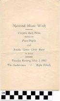 Image of Piano Pupils recital program