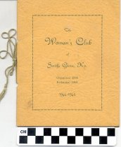 Image of Woman's Club of Smiths Grove, Kentucky yearbooks -