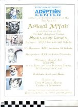 Image of 3rd Annual Animal Affair invitation