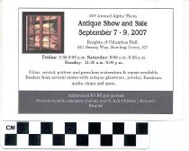 Image of 43rd Annual Alpha Theta Antique Show and Sale invitation