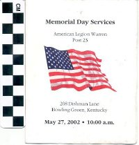 Image of Memorial Day Services program