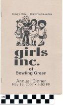 Image of Girls Inc. Annual dinner program