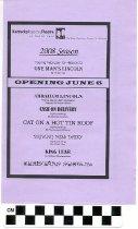 Image of Kentucky Repertory Theatre 2008 Season program