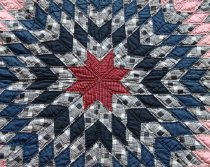 Image of Lone Star Quilt  made by Minnie Alice Young Sutton (detail)