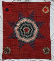 Image of Lone Star Quilt made by Minnie Alice (Young) Sutton