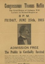 Image of Congressman Thomas Heflin Will Lecture -