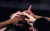 Image of WKU Basketball Players Hands - Tirpak, Brian