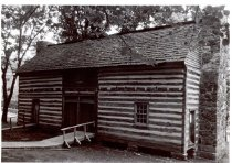 Image of Felts Log Cabin - White, Robin