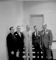 Image of Tate Page with Unidentified Men - Unknown