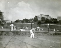 Image of Students Playing Tennis - Unknown