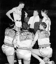 Image of 1947-48 Basketball Team - Unknown