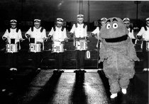 Image of Big Red and Drum Line -