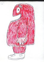 Image of Big Red Costume Sketch -