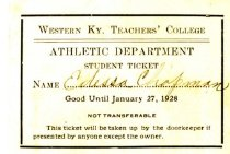 Image of Athletic Department Student Ticket -